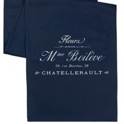 Bieżnik French Home - Madame L - granatowy