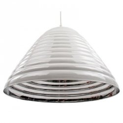 Lampa sufitowa - Shine - biało-srebrna