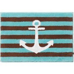 Dywanik łazienkowy Rhomtuft - ANKER - brązowo-niebieski