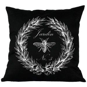 Poduszka French Home - Jardin - czarna