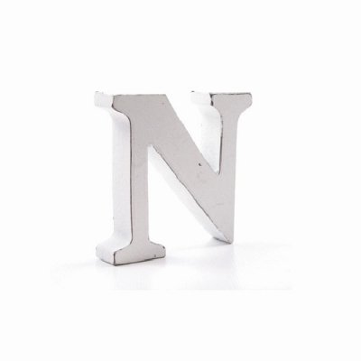 Litera dekoracyjna mała - N - biała