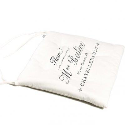 Poduszka na krzesło French Home - Madame - biała