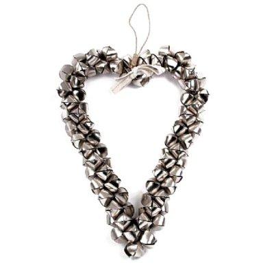 BELLS - serce dekoracyjne z dzwonków - 57 cm