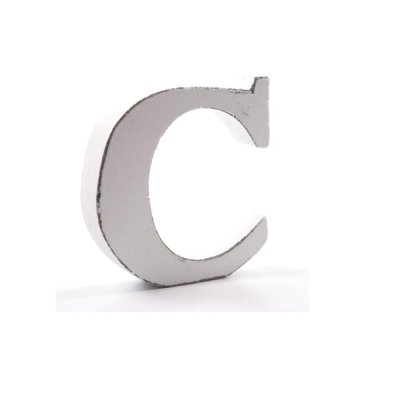Litera dekoracyjna mała - C - biała