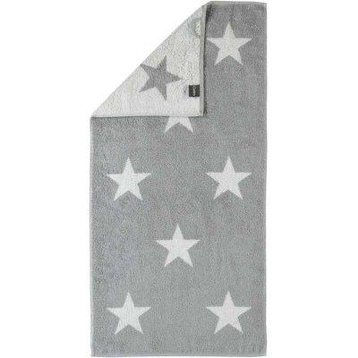 Ręcznik plażowy Cawo Stars - szary 70x180 cm