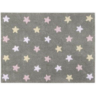 Dywan do prania w pralce - Lorena Canals TRICOLOR STARS - Rosa