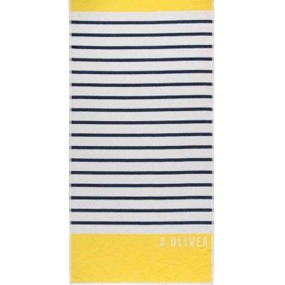 Ręcznik plażowy s.Oliver - żółty 80x180 cm
