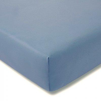 Prześcieradło ESTELLA Feinjersey z gumką - niebieskie jasne