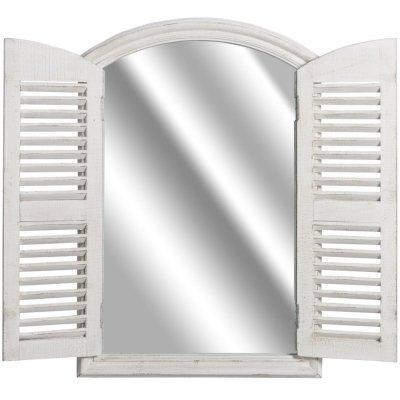 Lustro okno z okiennicami Belldeco Grigio - 90 cm