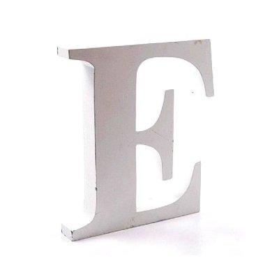 Litera dekoracyjna duża - E - biała