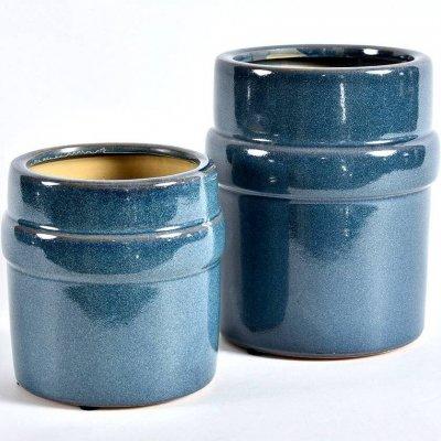 Doniczka Belldeco Włoskie Niebo - niebieska - 14 cm