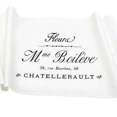 Bieżnik French Home - Madame M - biały