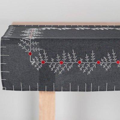 Obrus świąteczny CHRISTMAS - szary 85x85 cm