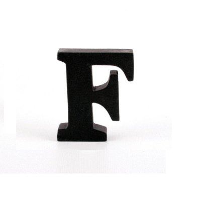Litera ozdobna mała - F - czarna
