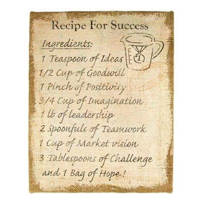 Obraz - Recipe for Success - Przepis na sukces