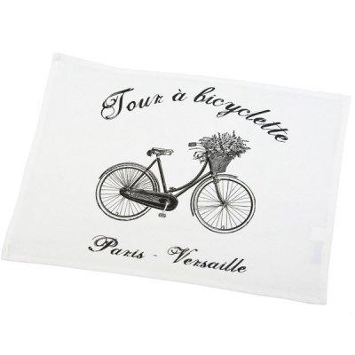 Serweta / podkładka French Home - Bicyclette - biała