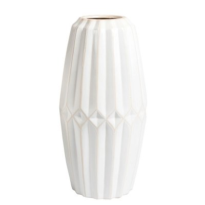 Wazon Belldeco Pastel - biały - wysokość 37,3 cm