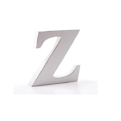 Litera dekoracyjna mała - Z - biała
