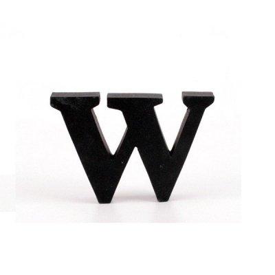 Litera ozdobna mała - W - czarna
