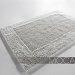 Dywanik łazienkowy Moca Design - Frame - srebrny