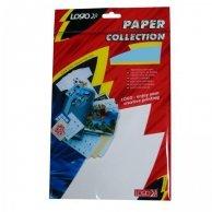Logo etykiety na CD 78mm x 55mm, A4, matowe, białe, 8 etykiety, CD-R card, 140g/m2, pakowany po 10 szt., do drukarek atramentowych