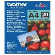 Brother Glossy Photo Paper, foto papier, połysk, biały, A4, 260 g/m2, 20 szt., BP71GA4, atrament