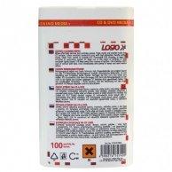 Środki czyszczące chusteczki jednorazowe, na CD i DVD, pudełko, 100 szt., LOGO