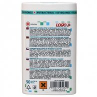 Środki czyszczące chusteczki jednorazowe, na klawiaturę i telefon, pudełko, dezynfekcyjne, 50 szt., LOGO