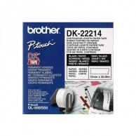 Brother rolki papierowe 12mm x 30.48m, biała, 1 szt., DK22214, do drukowania etykiet