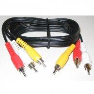 Audio/video kabel Cinch(3x)-Cinch(3x), M/M5m, No Name