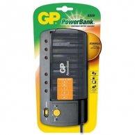 Ładowarka GP PowerBank, PowerBank S320, na 6 szt. AA/AAA/C/D, NiMH, 220V (el.síť), ładowanie pojedynczych cel, GP