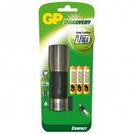 LED Flashlight, 3xAAA, metalowy, czarno-srebrna, GP LCE604