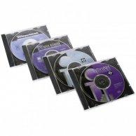 Box na 1 szt. CD, przezroczysty, czarny tray, No Name, 10,4 mm, 200-pack