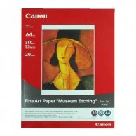Canon, Fine Art Paper Museum Etching, biały, A3, 350 g/m2, 20 szt., do drukarek atramentowych, FA-ME1 A3