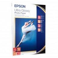 Epson Ultra Glossy Photo Pape, foto papier, połysk, biały, R200, R300, R800, RX425, RX500, 13x18cm, 5x7, 300 g/m2, 15 szt., C13S0