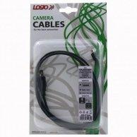 USB kabel (2.0), A-8pin, M/M, 1.8m, Logo, blistr