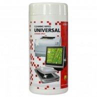 Środki czyszczące chusteczki jednorazowe uniwersalny, pudełko, 100szt., LOGO