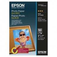 Epson Glossy Photo Paper, foto papier, połysk, biały, 13x18cm, 200 g/m2, 50 szt., C13S042545, atrament