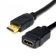 Audio/video kabel HDMI-HDMI, M/F2m, pozłacane końcówki, No Name