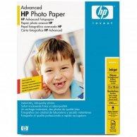 HP Advanced Glossy Photo Pa, foto papier, połysk, zaawansowany, biały, 13x18cm, 5x7, 250 g/m2, 25 szt., Q8696A, atrament,bez marg