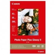 Canon Photo Paper Plus Glossy, foto papier, połysk, biały, A3, 260 g/m2, 20 szt., PP-201 A3, atrament