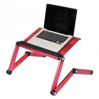 Podstawa pod notebook, różowy, aluminiowo-plastikowa, 10 nośność, No Name
