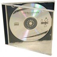 Box na 1 szt. CD, przezroczysty, czarny tray, Logo, 10,4 mm, 2-pack