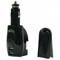 USB ładowarka, 12V (autozapalovač) a 220V (el.síť), 5V, 1000mA, do ładowania telefonów komórkowych i GPS, Logo