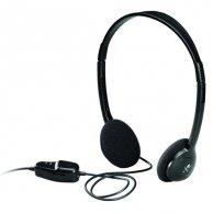 Logitech, Dialog-220, słuchawki, regulacja głośności, czarna, 3.5mm konektor