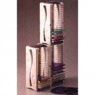 Box na 20 szt. CD, szary, wieża, wieża w pionie i poziomie, No Name