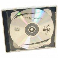 Box na 2 szt. CD, przezroczysty, czarny tray, No Name, 10,4 mm