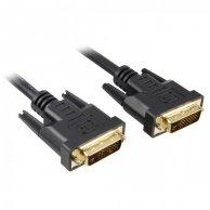 Video Kabel Dual link, DVI(24+1)-DVI(24+1), M/M10m, pozłacane końcówki, ekranowany, No Name