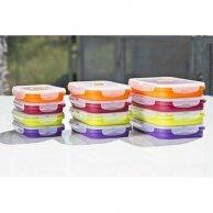 Box silikonowy, 18 x 11,5 x 2,5cm, color, forma na muffinki, 800ml