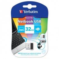 Verbatim USB flash disk, 2.0, 32GB, Store,N,Go Netbook, czarny, 43942